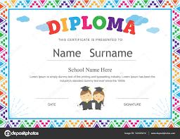 preschool diploma kids diploma preschool certificate elementary school template ba