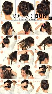 how to wrap wedding hair second day hairstyles how to chubby braid wrapped messy bun tutorial