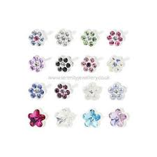 nickel free earrings hypoallergenic blomdahl plastic flower stud earrings