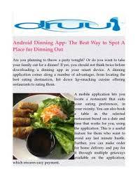 application android cuisine best android dining app by druulfoodapps issuu