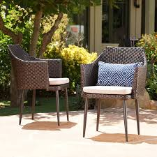 Patio Dining Chairs With Cushions Brant Patio Dining Chair With Cushion Reviews Joss