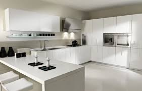 kitchen design grey colour cream wall paint round white flushes