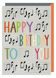 birthday musical cards musical notes happy birthday to you