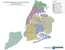 New York City Zip Code Map by This Map Shows Eight U S State Populations That Fit Nicely Into