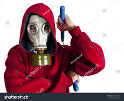 Halloween Costumes With Gas Mask by Super Villain Super Hero Wearing Gas Stock Photo 156838229