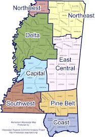 County Map Of Mississippi Mississippi Regional Economic Analysis Project Ms Reap