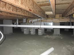 how to get rid of water in a crawl space
