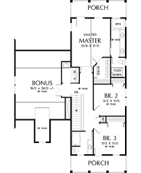 colonial style house plan 4 beds 3 5 baths 2400 sq ft plan 48