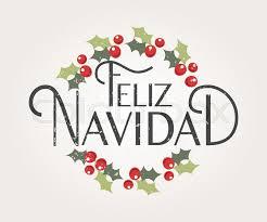 feliz navidad christmas card sketched feliz navidad happy new year in logotype