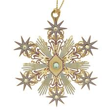 beacon design chemart joyous snowflake ornament 57186