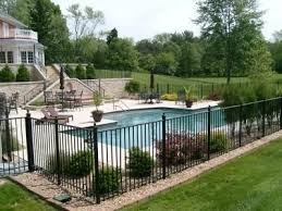 Backyard With Pool Ideas 16 Pool Fence Ideas For Your Backyard Awesome Gallery