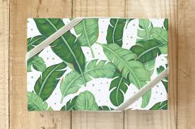 tropical wrapping paper tropical banana leaves wrapping paper