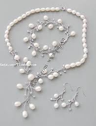 silver pearl necklace set images Sterling silver freshwater pearl jewelry sets 925 sterling silver jpg
