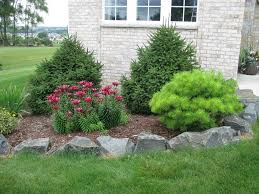 rock garden with decorative flower bed landscaping pinterest
