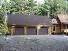 log cabin garage with lofts garage with scribe log siding
