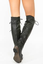 s knee boots on sale breckelles black lace up boot cicihot boots catalog