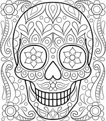 the most incredible and also gorgeous day of the dead coloring