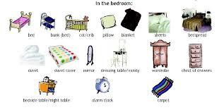 ranger sa chambre en anglais pièces de la maison en anglais