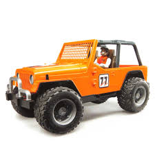 orange jeep wrangler 16th jeep orange cross country racer w driver by bruder