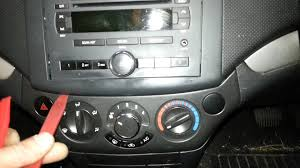 how to remove a radio from a 2008 holden barina youtube