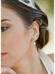 boucle d oreille mariage boucles d oreilles mariée violaine avec perles et strass so hélo