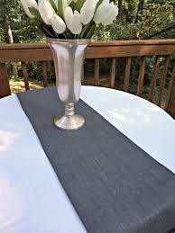 home decor table runner gray burlap table runner or choose your color gray home decor