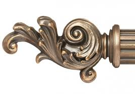 Cambria Wood Curtain Rods Curtain Rod Finial For 2 1 4 Wood Drapery Rods Pair