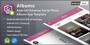 Modern Photo Albums Albums Android Universal Photo Albums Sharing App Template By