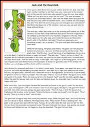 jack and the beanstalk esl printable worksheets and exercises