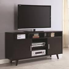 Midcentury Modern Tv Stand - coaster 700446 cappuccino finish wooden mid century modern tv