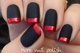 50 very beautiful red and black nail art design ideas
