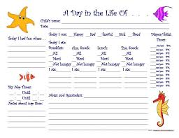 daily report sheet template free printable pre school prgress reports yahoo image search