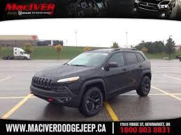 jeep cherokee black 2015 2015 black jeep cherokee trailhawk newmarket ontario maciver dodge