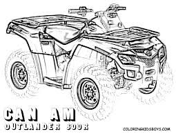 four wheeler coloring pages of can am outlander 800r at