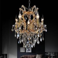 Maria Theresa 6 Light Crystal Chandelier Brizzo Lighting Stores Maria Theresa Collection