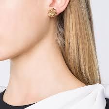 diamond helix stud helix frame diamond stud gold earrings