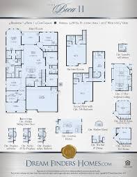 Texas Floor Plans by Boca Ii Dream Finders Homes
