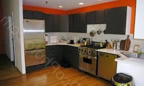 cuisine orange et gris déco peinture cuisine orange et gris 87 nimes peinture