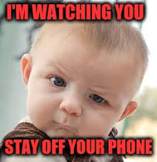 Get Off Your Phone Meme - skeptical baby meme imgflip