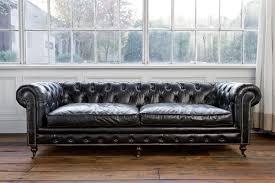 Ital Leather Sofa Hancock Tufted Black Italian Leather Sofa Button Nattyesterfield