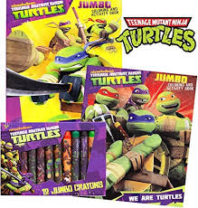 tmnt teenage mutant ninja turtles coloring activity book