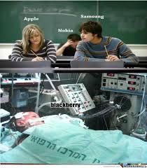 apple vs samsung vs nokia vs blackberry by falah55 meme center