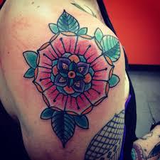 mandala tattoo on shoulder mandala on my shoulder by nick at signature tattoo ferndale mi