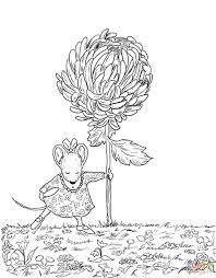 free chrysanthemum flowers coloring pages for kids printable
