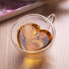 heart shaped mugs heart shaped wall glass tea cup or coffee mug glass tea