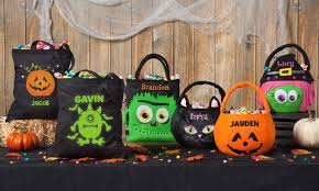 halloween basket or tote personalized planet groupon