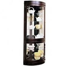 Curio Cabinet Accent Lighting Contemporary Corner Curio Cabinet Foter