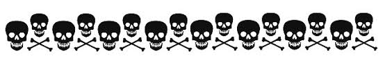 skulls and bones armband temporary 25 sku 30001