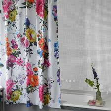 Designer Shower Curtains Fabric Designs Amrapali Peony Shower Curtain Designers Guild