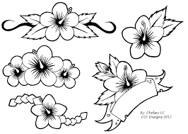 simple hibiscus flowers tattoo designs photo 1 photo pictures
